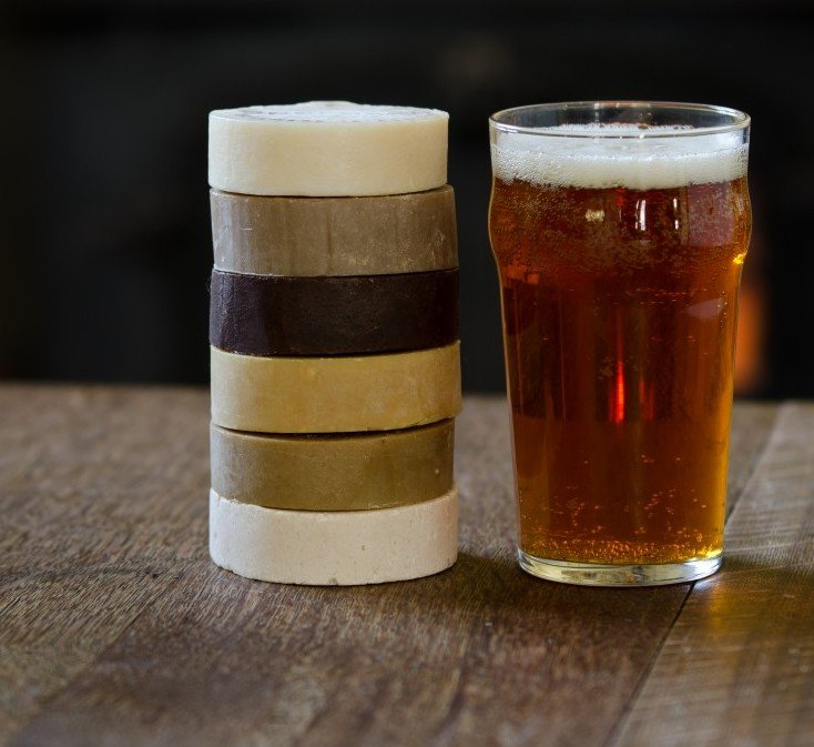 Beer soap solid bars